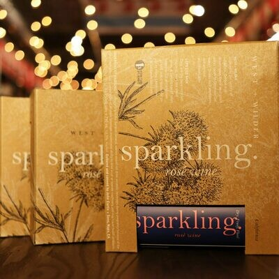 West + Wilder Sparkling Rosé Wine Napa Valley California 750ml 3PK Cans