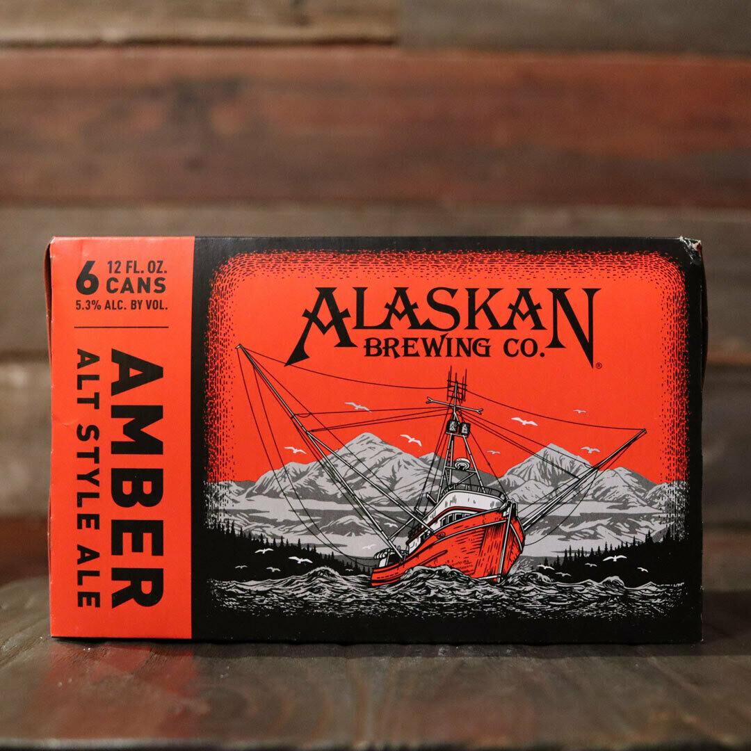 Alaskan Amber Ale 12 FL. OZ. 6PK Cans