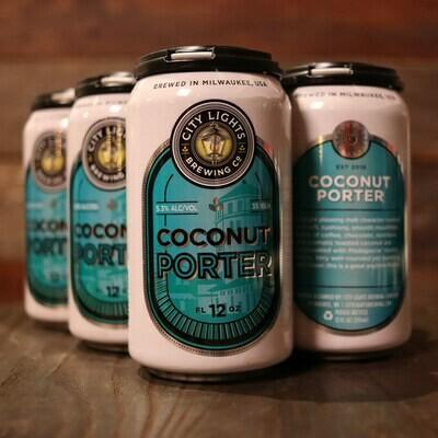 City Lights Coconut Porter 12 FL. OZ. 6PK Cans