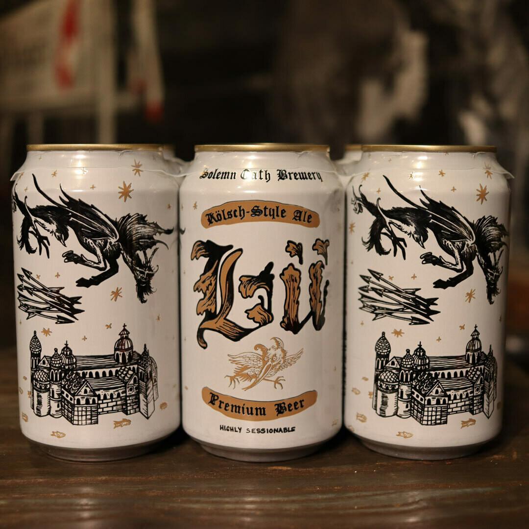 Solemn Oath Lu Kolsch Style Ale 12 FL. OZ. 6PK Cans