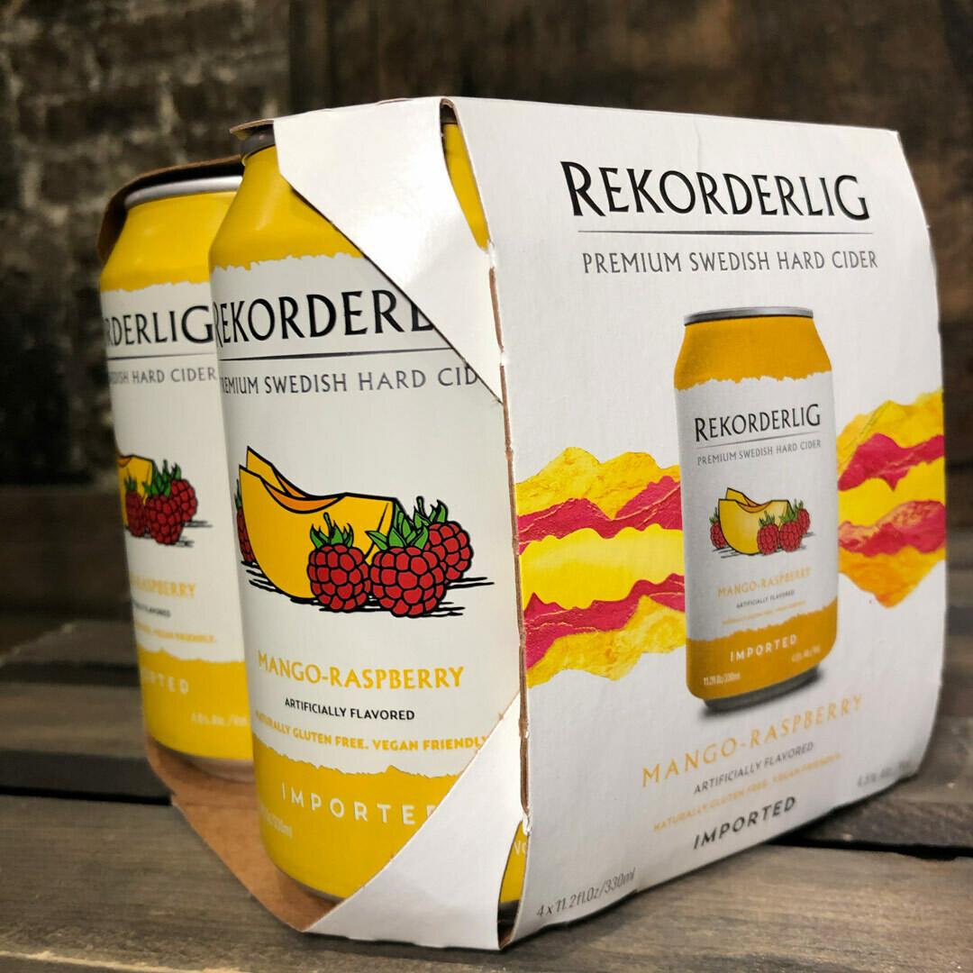 Rekorderlig Cider Mango-Raspberry 11.2 FL. OZ. 4PK Cans