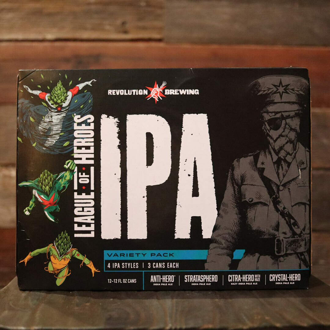 Revolution League of Heros IPA 12 FL. OZ. 12PK Cans