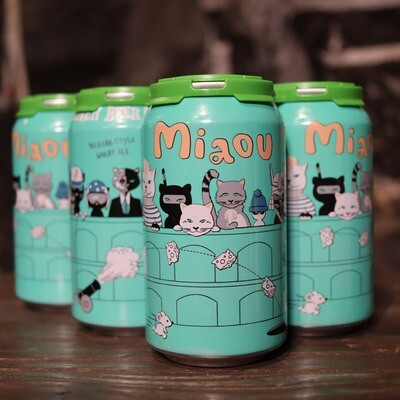 Whiner Beer Co.  Miaou Belgian Style Wheat Beer 12 FL. OZ. 6PK Cans