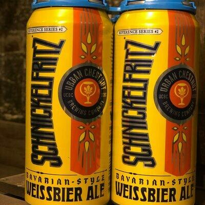 Urban Chestnut Schnickelfritz Weissbier 16 FL. OZ. 4PK Cans