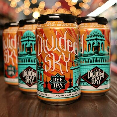 4 Hands Divided Sky Rye IPA 12 FL. OZ. 6PK Cans