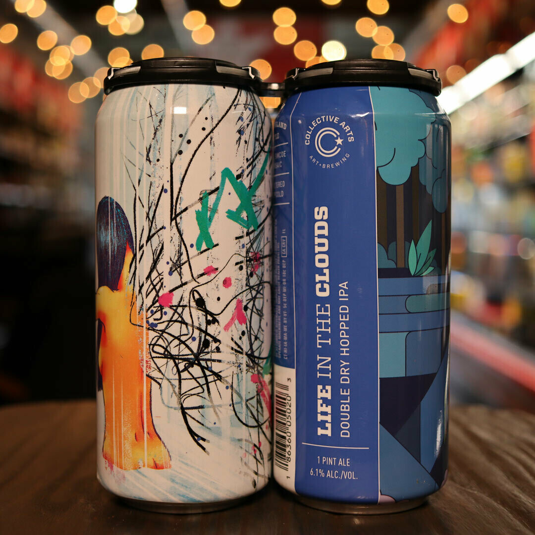 Collective Arts Life in the Clouds Hazy IPA 16 FL. OZ. 4PK Cans