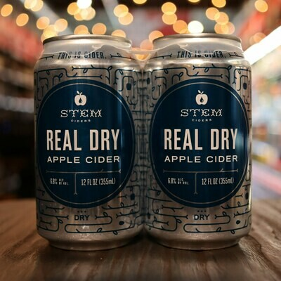 Stem Cider  Real Dry 12 FL. OZ. 4PK Cans