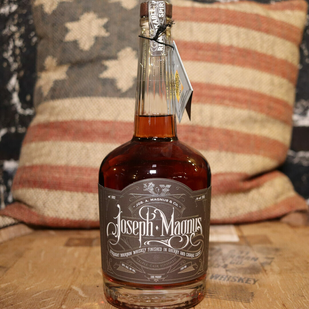 Joseph Magnus Straight Bourbon Whiskey 750ml.