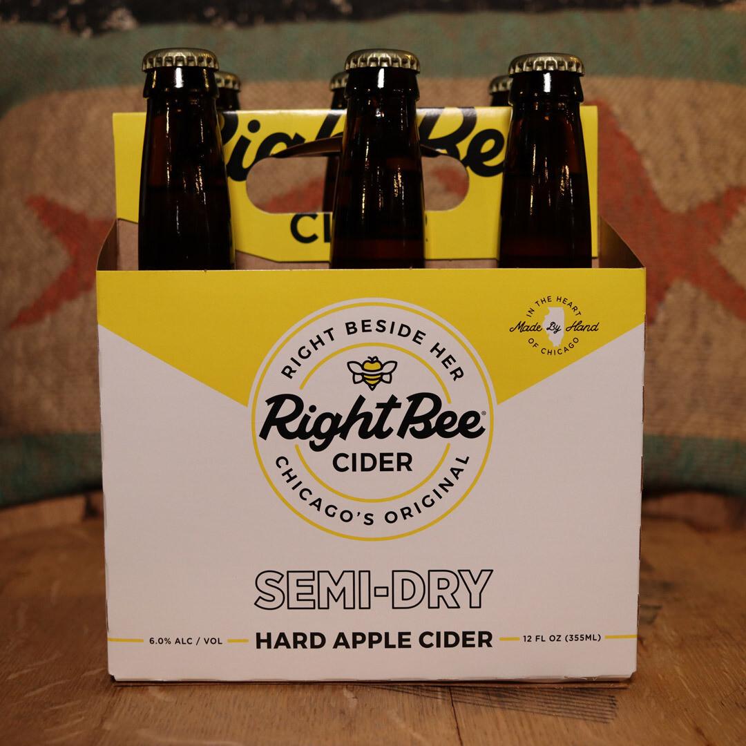 Right Bee Cider Semi-Dry 12 FL. OZ. 6PK