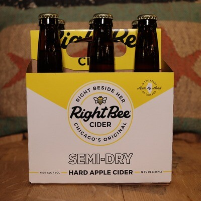 Right Bee Cider Semi-Dry 12 FL. OZ. 6PK