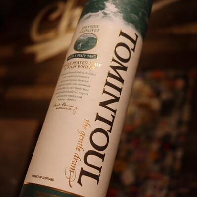 Tomintoul Peated Scotch Whiskey 750ml.