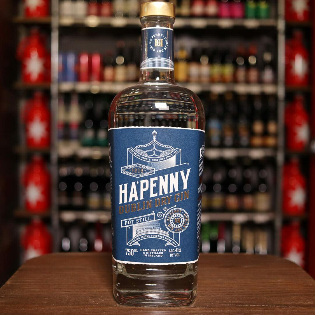 Ha'Penny Dublin Dry Gin 750ml.