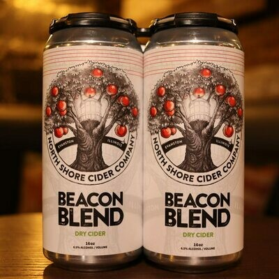 North Shore Cider Beacon Blend Dry 16 FL. OZ. 4PK Cans