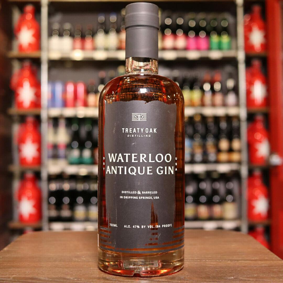 Treaty Oak Waterloo Antique Gin 750ml.
