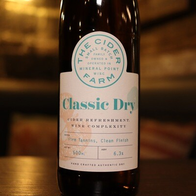 The Cider Farm Classic Dry 500ml.