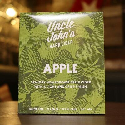 Uncle John's Cider Apple 16 FL. OZ. 4PK Cans