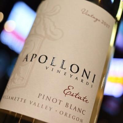 Apolloni Pinot Blanc Willamette Valley Oregon 750ml.