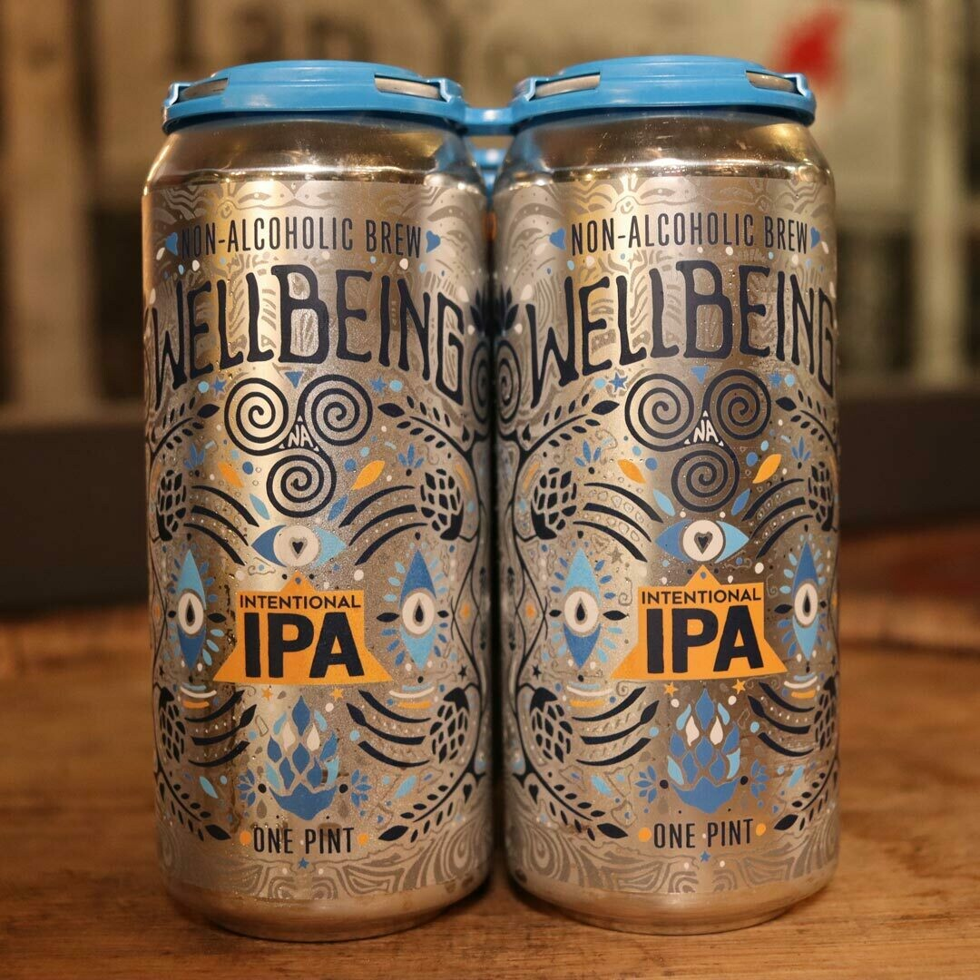 Well Being Intentional IPA N/A Beer 16 FL. OZ. 4PK Cans