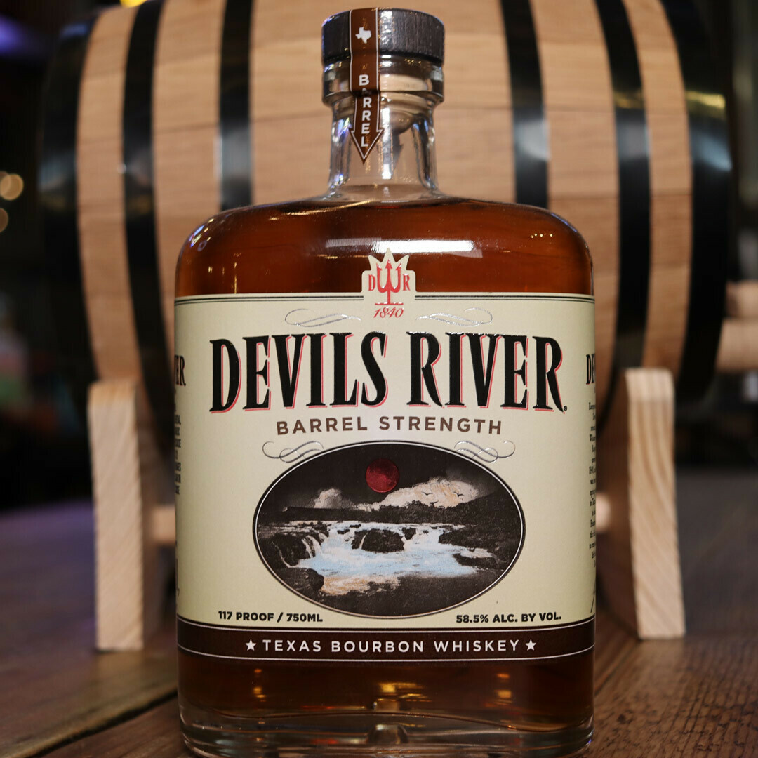 Devils River Barrel Strength Bourbon Whiskey 750ml.