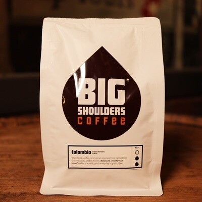Big Shoulders Colombia Whole Bean Coffee 12oz. BAG