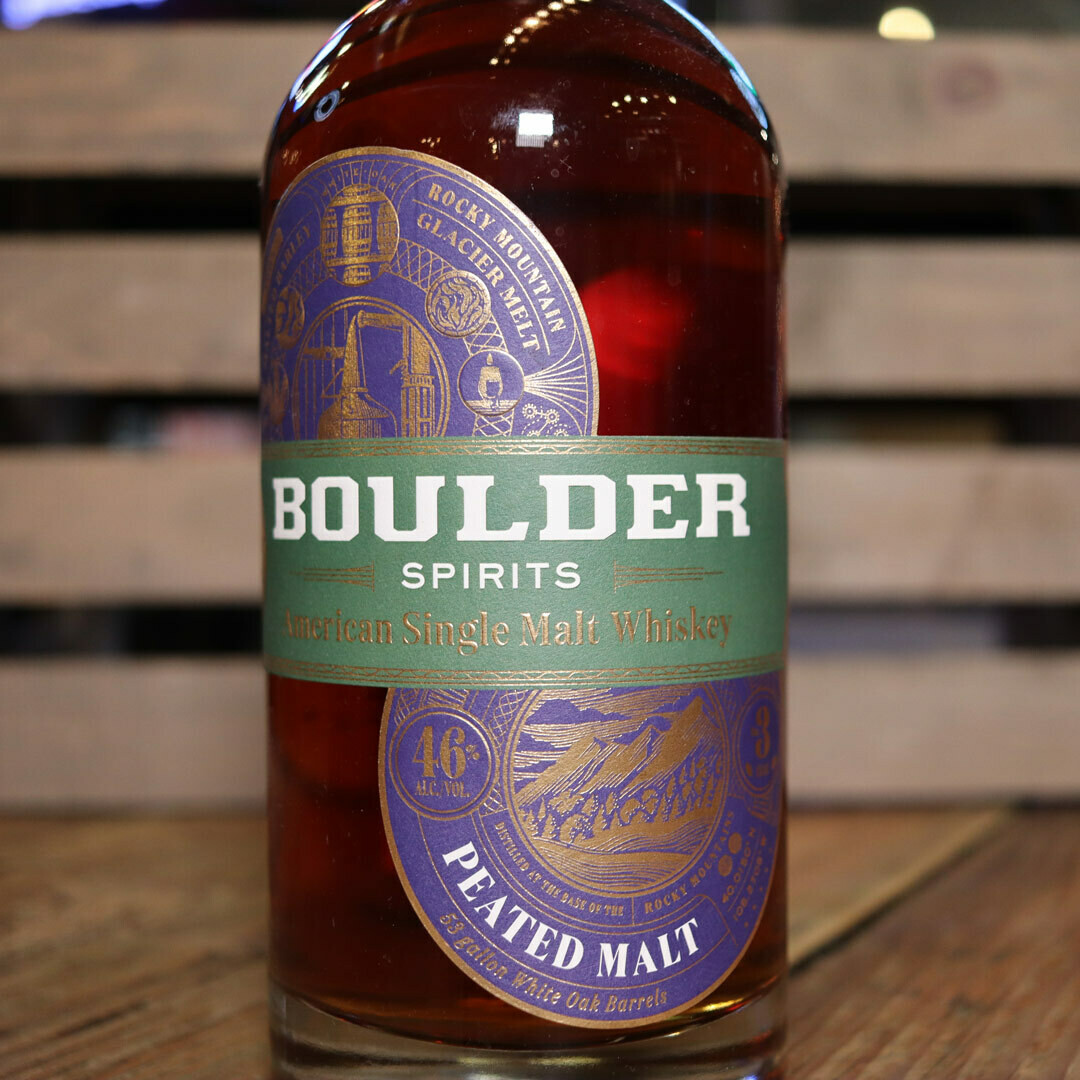 Boulder Single Malt Whiskey PEATED MALT 750ml.