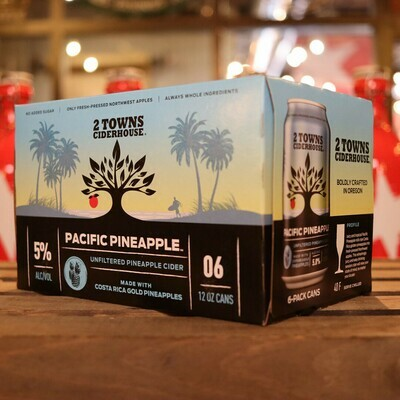 2 Towns Cider Pacific Pineapple 12 FL. OZ. 6PK Cans