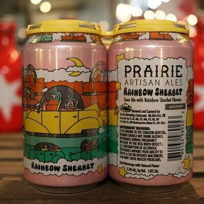 Prairie Rainbow Sherbet Sour Ale 12 FL. OZ. 4PK Cans