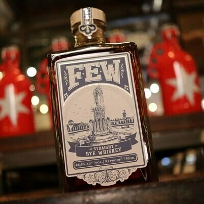 FEW Straight Rye Whiskey 750ml.