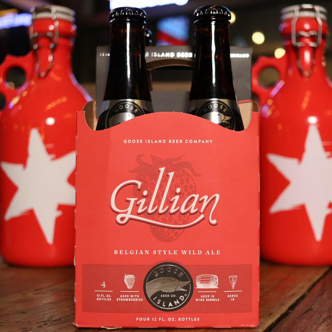 Goose Island Gillian Strawberry Sour Ale 12 FL. OZ. 4PK