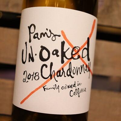 Pam's Un-Oaked Chardonnay California 750ml.
