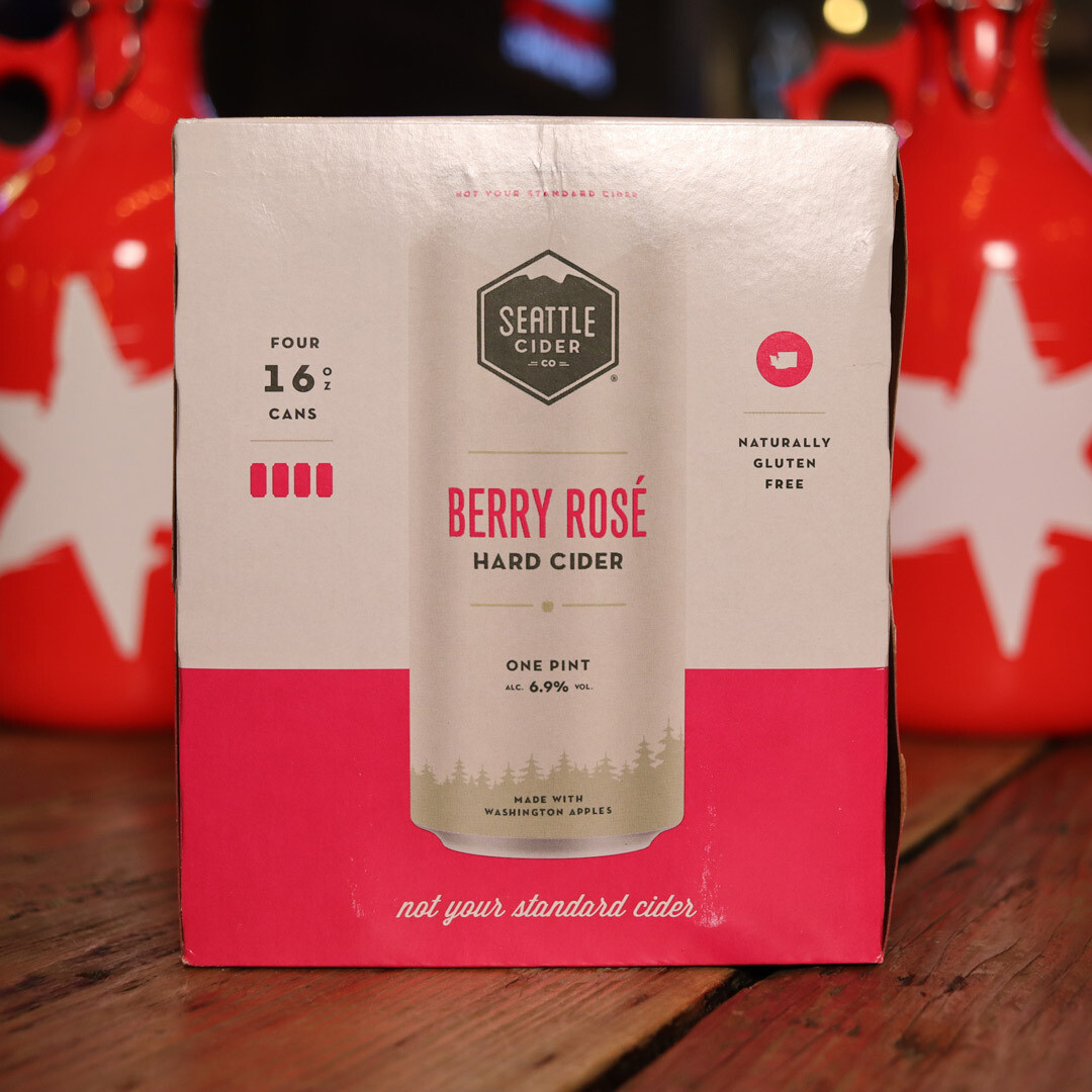 Seattle Cider Berry Rose  16 FL. OZ. 4PK Cans