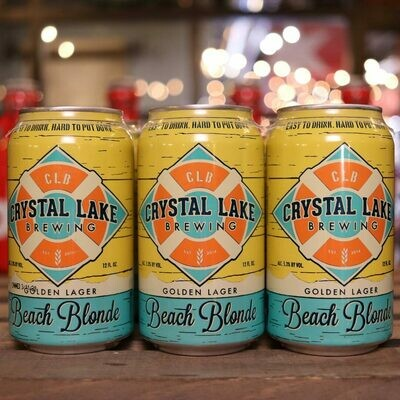 Crystal Lake Beach Blonde 12 FL. OZ. 6PK Cans