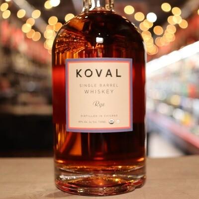 Koval Whiskey Rye 750ml.