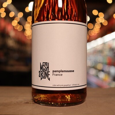 Mesh & Bone Pamplemousse Cider w/Grapefruit 750ml.