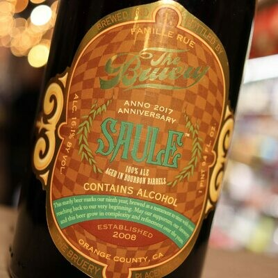 The Bruery Saule Ale Aged in Bourbon Barrels 750ml.