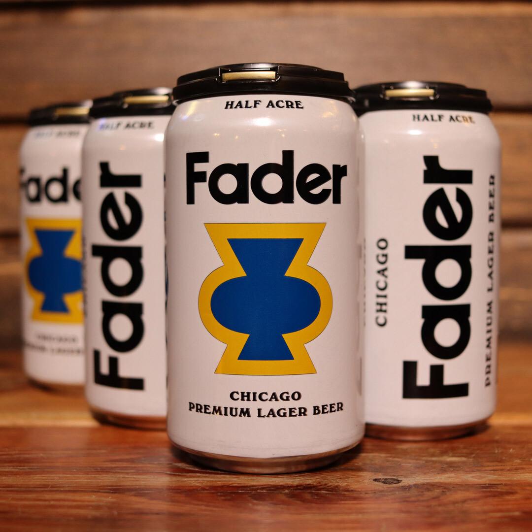 Half Acre Fader Chicago Premium Lager 12 FL. OZ. 6PK Cans