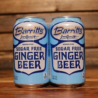 Barritts Ginger Beer DIET 12 FL. OZ. 4PK Cans