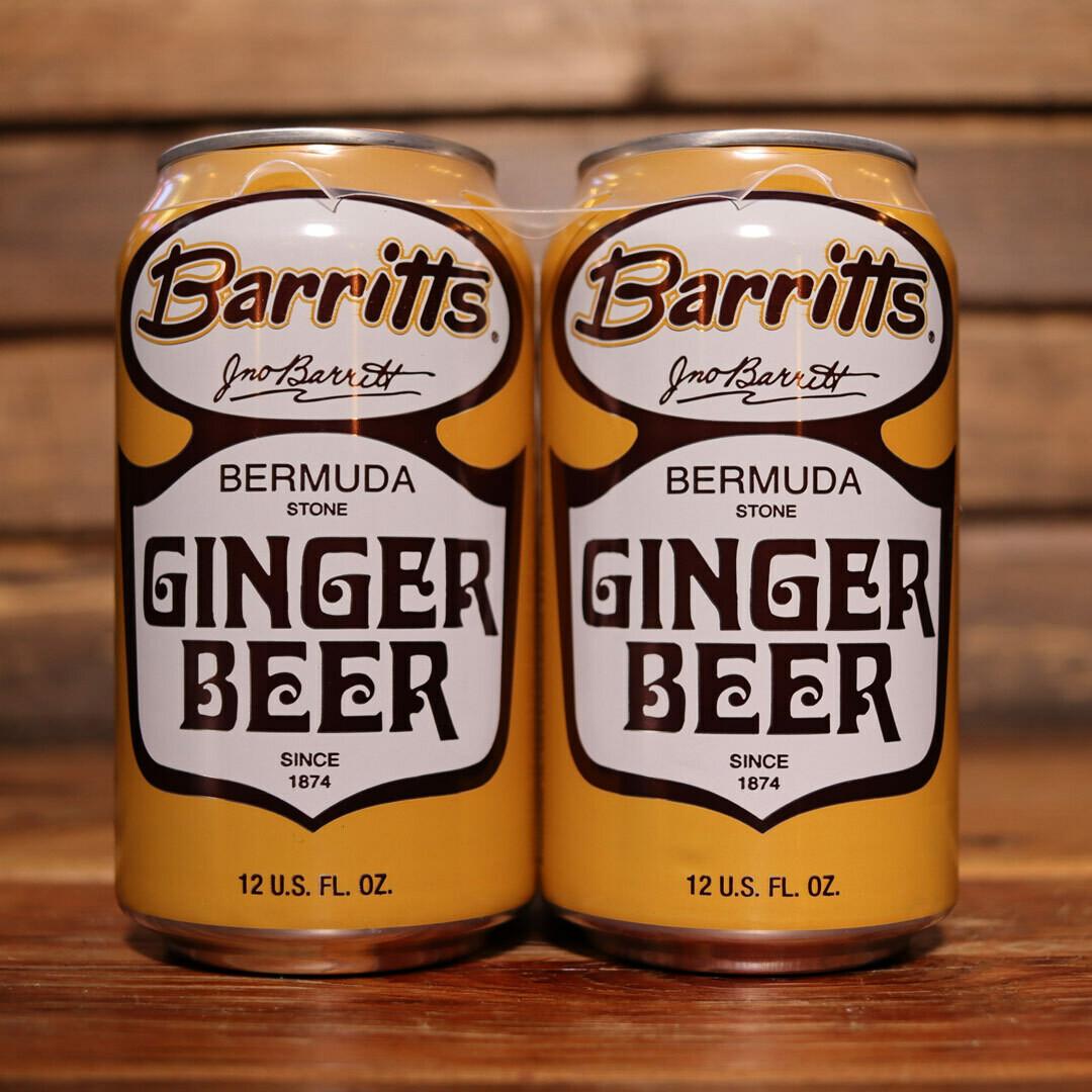 Barritts Ginger Beer 12 FL. OZ. 4PK Cans