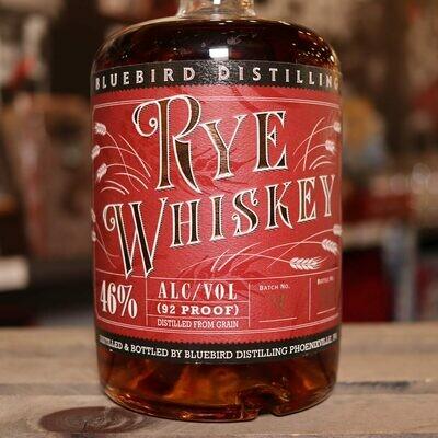 Bluebird Dist. Rye Whiskey 750 ML.