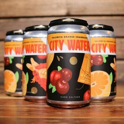 City Water Orange Cranberry Hard Seltzer 12 FL. OZ. 6PK Cans