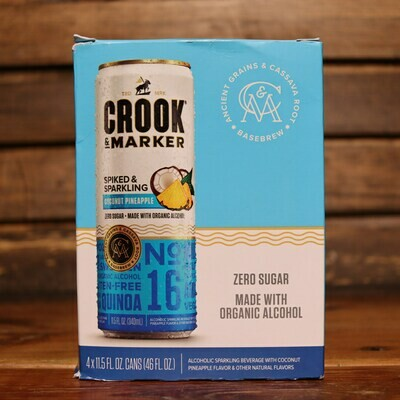 Crook & Marker Coconut Pineapple 340ml. 4PK Cans