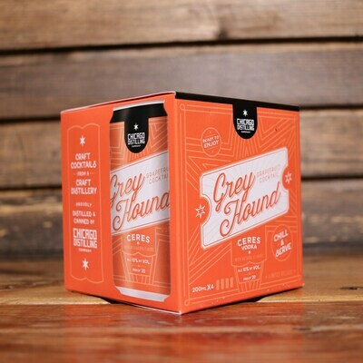 Chicago Distilling Greyhound Cocktail 200ml. 4PK Cans