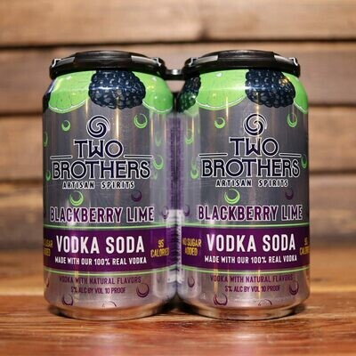 Two Brothers Vodka Soda Blackberry 12 FL. OZ. 4PK Cans