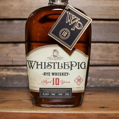 Whistle Pig 10 Year Straight Rye Whiskey 750ml.