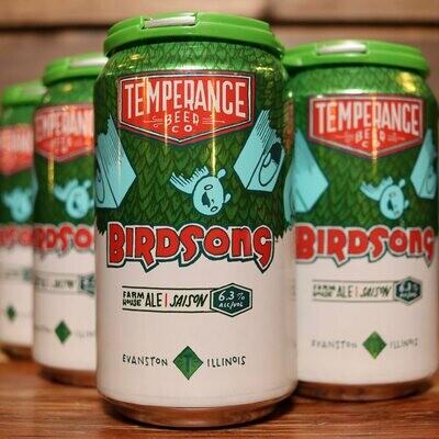 Temperance Bird Song Saison 12 FL. OZ. 6PK Cans