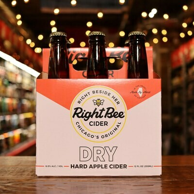 Right Bee Cider Dry 12 FL. OZ. 6PK