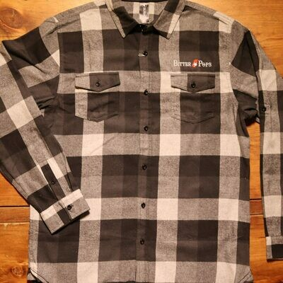 Biter Pops Burnside Flannel Grey-Black