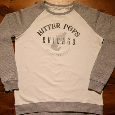 Bitter Pops Crew Shirt White/Grey