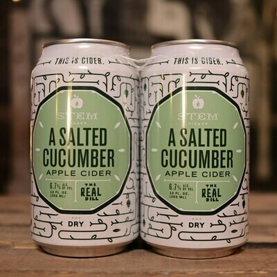Stem Cider A Salted Cucumber 12 FL. OZ. 4PK Cans