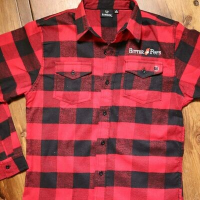 Biter Pops Burnside Flannel Red-Black